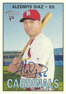 2016 Topps Heritage High Number Baseball Real One Autographs Aledmys Diaz