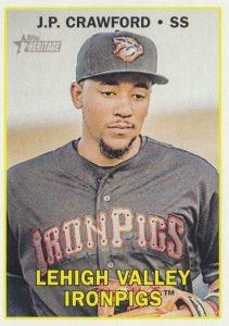 2016 Topps Heritage Minor League Baseball Base J.P. Crawford