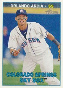 2016 Topps Heritage Minor League Baseball Base Orlando Arcia