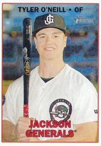 2016 Topps Heritage Minor League Baseball Base Tyler O'Neill