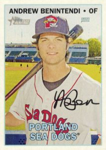 2016 Topps Heritage Minor League Baseball Variations Facsimile Signature Andrew Benintendi