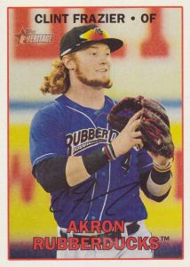2016 Topps Heritage Minor League Baseball Variations Facsimile Signature Clint Frazier