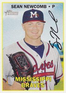 2016 Topps Heritage Minor League Baseball Variations Facsimile Signature Sean Newcomb