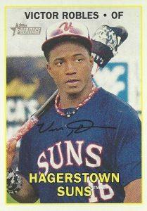 2016 Topps Heritage Minor League Baseball Variations Facsimile Signature Victor Robles