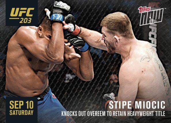 2016 Topps Now UFC 203 Stipe Miocic