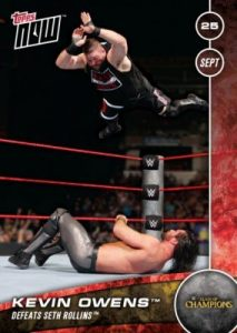 2016 Topps Now WWE Clash of Champions Kevin Owens