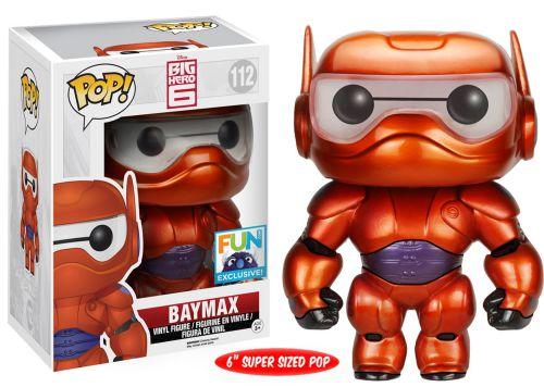 Funko Pop Disney 112 Baymax Metallic Armor FUN Exclusive