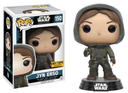 Funko Pop Star Wars Rogue One 150 Jyn Erso (Hooded) Hot Topic