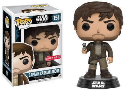 Funko Pop Star Wars Rogue One 151 Captain Cassian Andor (Brown Jacket) Target