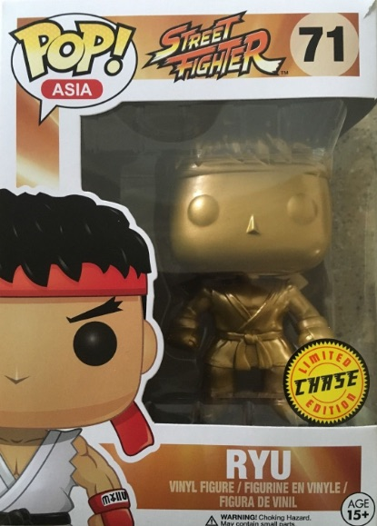 Funko Pop Street Fighter Asia 71 Ryu Gold Chase