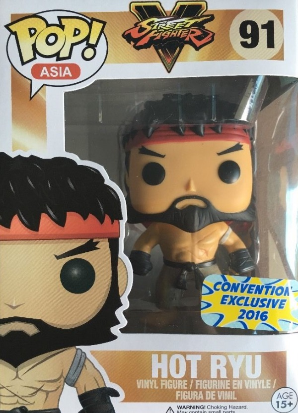 Funko Pop Street Fighter Asia 91 Hot Ryu Convention Exclusive