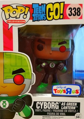 Funko Pop Teen Titans Go 338 Cyborg as Green Lantern