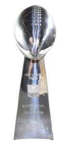 Steiner Sports Fall Classic Auction Ottis Anderson Super Bowl 25 New York Giants Vince Lombardi Trophy