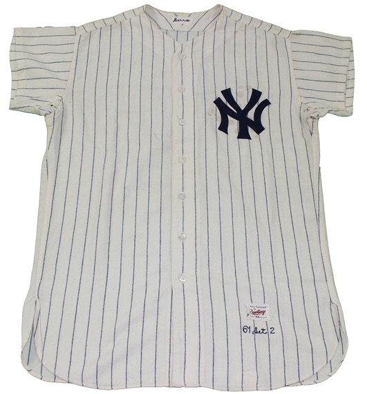 Steiner Sports Fall Classic Auction Yogi Berra 1961 New York Yankees Home Game-Used Jersey