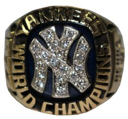 Steiner Sports Fall Classic Auction Yogi Berra 1977 World Series Champions Coach Ring