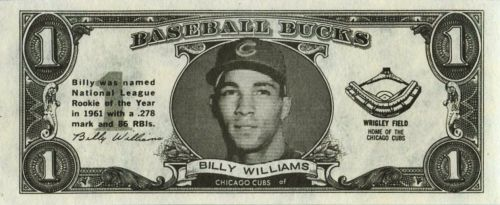 1962 Topps Bucks Billy Williams