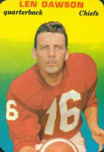 Top 10 Len Dawson Football Cards 2