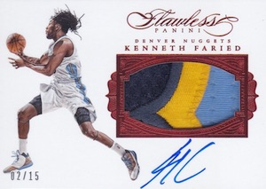 2015-16 Panini Flawless Basketball Patch Autographs