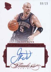 2015-16 Panini Flawless Basketball Premium Ink Jason Kidd