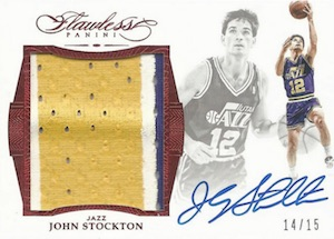 2015-16 Panini Flawless Basketball Star Swatch Signatures Stockton