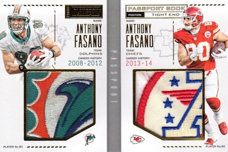 2016 Panini Playbook Football Passport Book Prime Patch