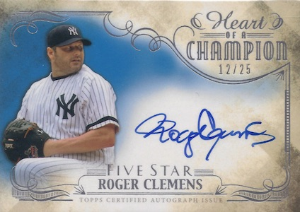 2016 Topps Five Star Baseball Heart of a Champion Autographs