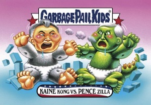 2016-17 Topps Garbage Pail Kids Disg-Race to the White House - Updated 35