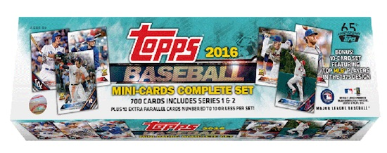 2016 Topps Mini Baseball Complete Set main