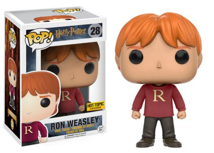 Funko Pop Harry Potter 28 Ron Weasley in Christmas Sweater Hot Topic