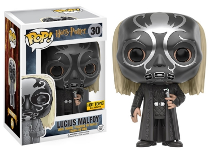 Funko Pop Harry Potter 30 Lucius Malfoy in Death Eater Mask Hot Topic