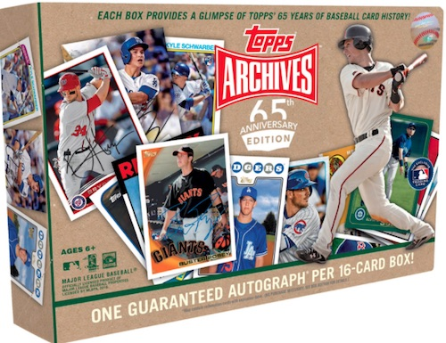 2016 Topps Archives 65th Anniversary Edition Baseball