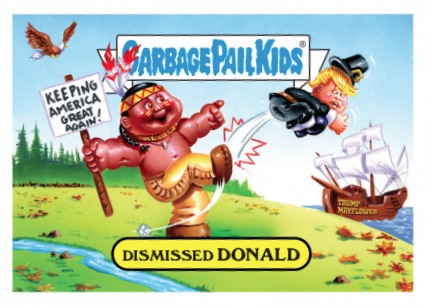 2016 Topps Garbage Pail Kids Thanksgiving Stickers 1