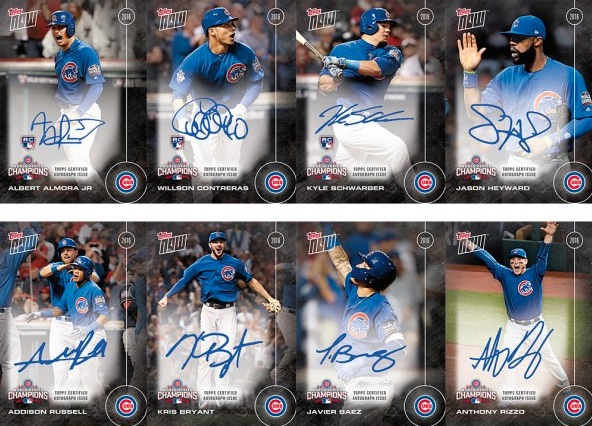 2016 Topps Now Chicago Cubs World Series Champions Team Set 1