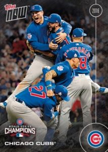 2016 Topps Now Chicago Cubs World Series Champions Team Set 20