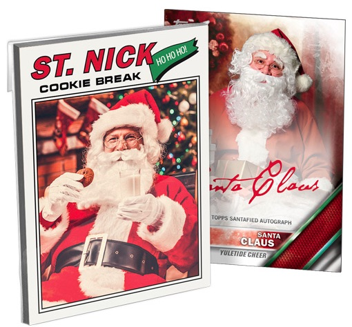 2016 Topps Santa Claus Holiday Set Trading Cards 1