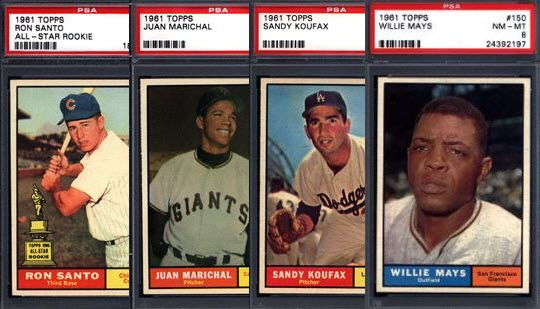Press Release: Just Collect Offers Graded 1961 Topps Near Set-Break at Auction 1