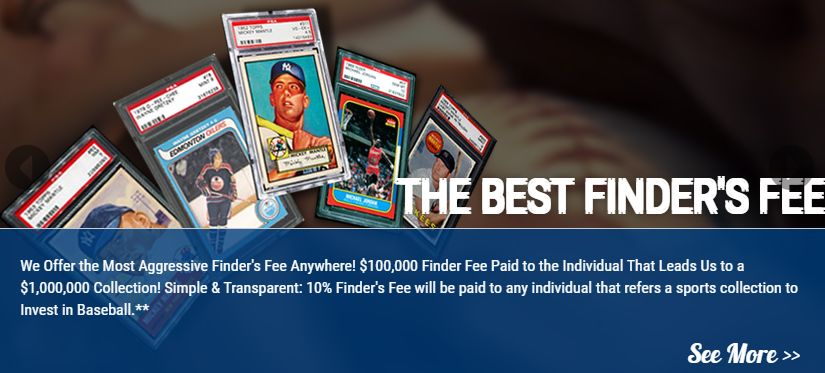 Press Release: Invest In Baseball Offers $100k Finder's Fee for Next Million Dollar Collection 1