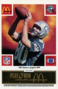 Top 10 Steve Largent Football Cards 3