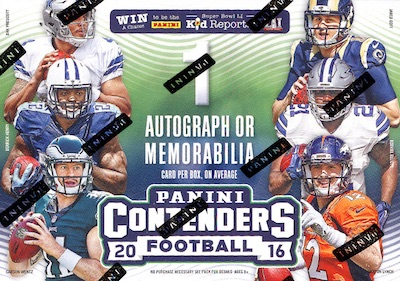 2016 Panini Contenders Football Cards - SP/SSP Print Runs Added 51
