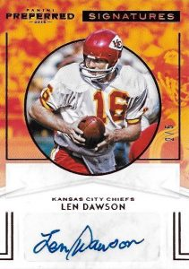 2016 Panini Preferred Football Cards - Checklist Added 28