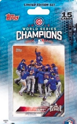 2016 Topps Chicago Cubs World Series Champions Limited Edition Set
