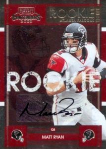 2008 Playoff Contenders Rookie Ticker Matt Ryan RC #179 Autograph