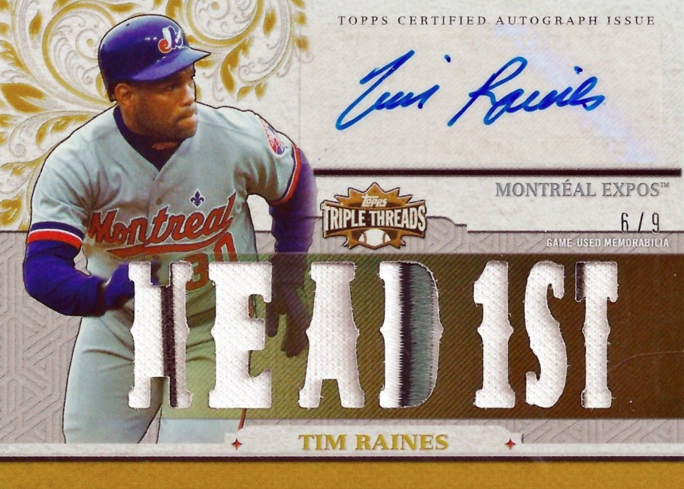 2014-topps-triple-threads-tim-raines-autograph-relic