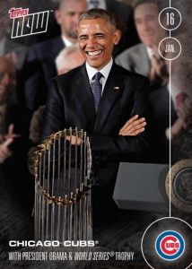 OS-45 Chicago Cubs: With President Obama & World Series Trophy