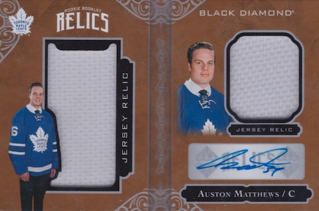 2016-17-upper-deck-black-diamond-auston-matthews-autographed-relic-booklet