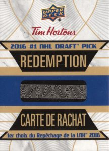 2016-17-upper-deck-tim-hortons-hockey-1-nhl-draft-pick-redemption-auston-matthews