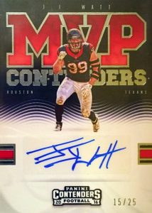2016 Panini Contenders Football Cards - SP/SSP Print Runs Added 33