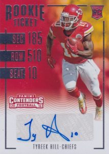 2016 Panini Contenders Football Cards - SP/SSP Print Runs Added 23