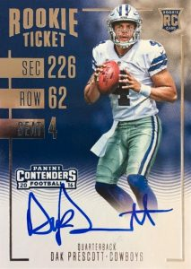 2016 Panini Contenders Football Cards - SP/SSP Print Runs Added 26