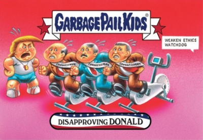 2016-17 Topps Garbage Pail Kids Disg-Race to the White House - Updated 149
